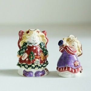 Christmas Angels Salt and Pepper Shakers